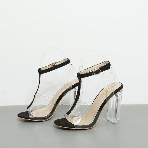 Alta Incastro Scarpe SUHANG A Elegante sandali Fibbia Tacco qwFx8U5