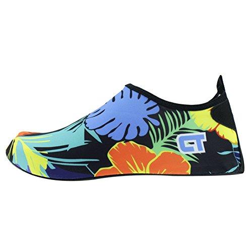SENFI leichte Quick-Dry Wasser Schuhe für Wassersport Strand Pool Camp (Männer, Frauen, Kinder) Flora