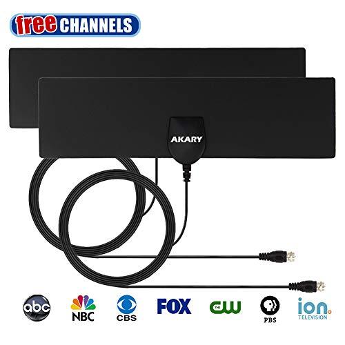 TV Antenna, AKARY Indoor HDTV Antenna 35 Miles Range Ultra Thin Digital Antenna - 2 Pack