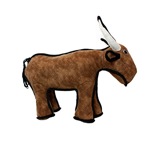 - TUFFY Barnyard Animal Bull, Durable Dog Toy, Large