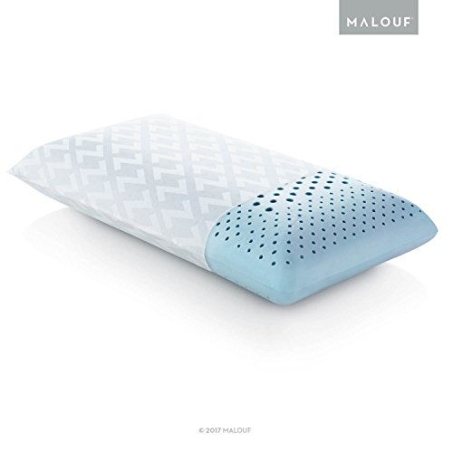 MALOUF Z Zoned Dough Gel-Infused Memory Foam Bed Pillow-5-Year U.S. Warranty Queen- Mid Loft, Queen