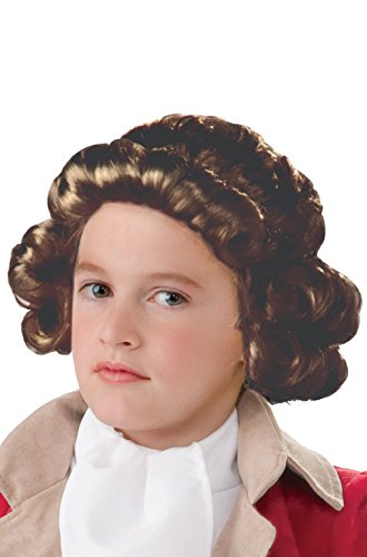 Rocker Zombie Adult Wig (Child Colonial Boy George Washington Costume Wig (Brown))