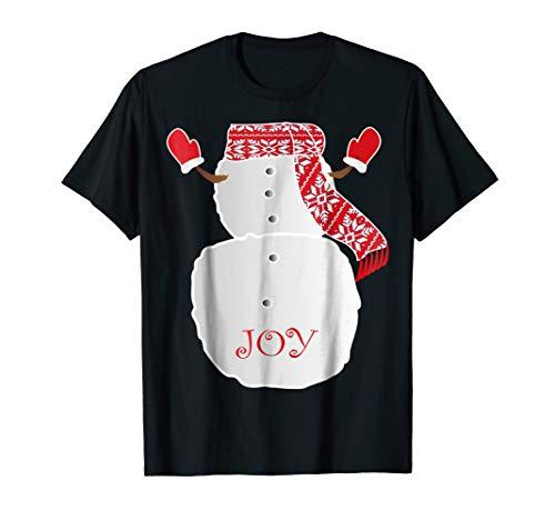 funnySnowman Body Costume christmas joy snowman T shirt