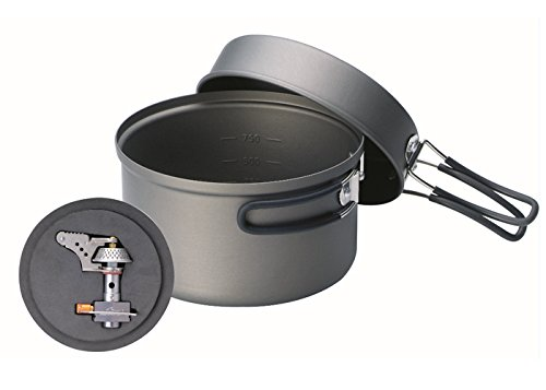 Kovea Solo Lite Titanium Stove with High Purity Hard Anodizing Cook Set