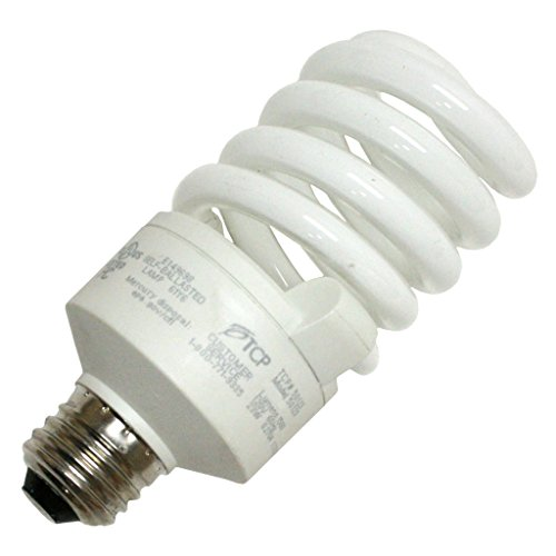TCP 5012350K CFL SpringLamp - 100 Watt Equivalent (only 23W used) Daylight (5000K) TruDim Dimmable Spiral Light Bulb