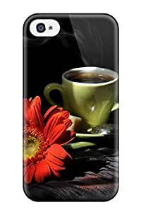 Defender Case With Nice Appearance (coffe Cup) For Iphone 4/4s