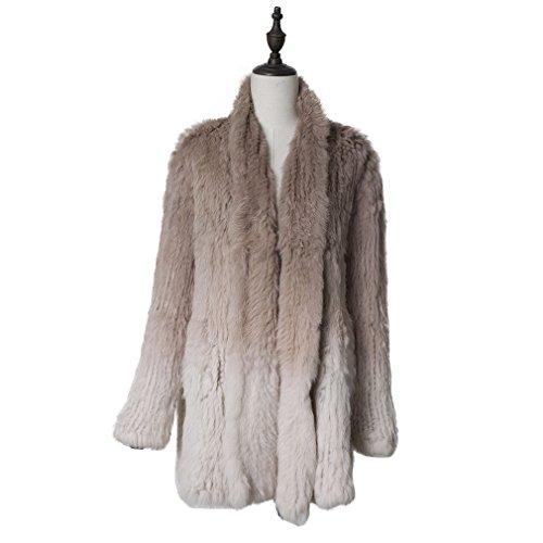 V-Neck Womens Fur Coat - 7