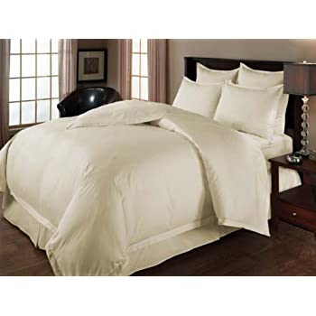 Amazon Com Wrinkle Free 8 Pc Cal King Size Solid Ivory