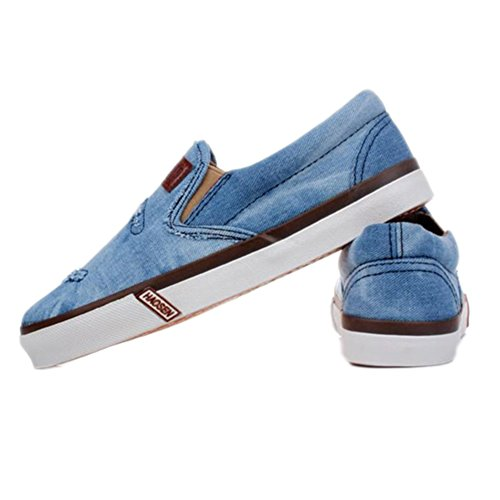 BD Men's Slip-On Sky Blue Canvas Fashion Shoes Casual Sneakers Slippers 7 US by Men's Shoes BD (Image #1)