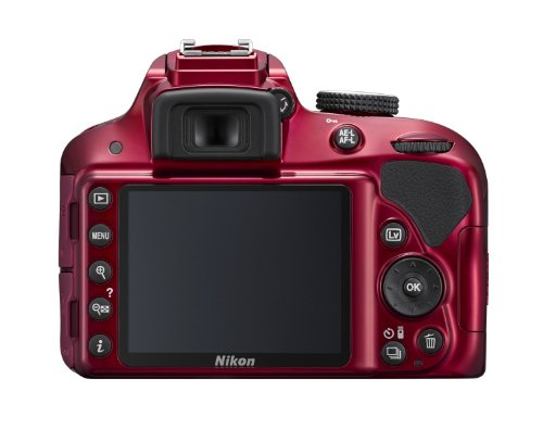 Nikon D3300 24.2 MP CMOS Digital SLR with Auto Focus-S DX NIKKOR 18-55mm f/3.5-5.6G VR II Zoom Lens (Red)
