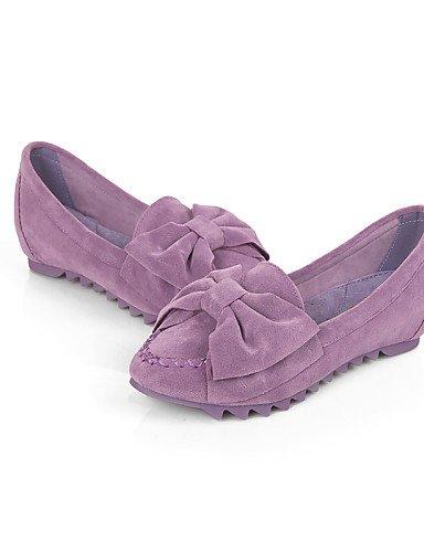Black Uk5 us5 Cn38 Morado Mujer 5 Cn34 Zapatos ante planos Rosa Casual negro vestido Zq us7 5 Eu38 Azul Punta mocas¨ªn Purple Puntiagudos Uk3 De tac¨®n Cerrada Eu35 Yyz Plano FBnqSw4