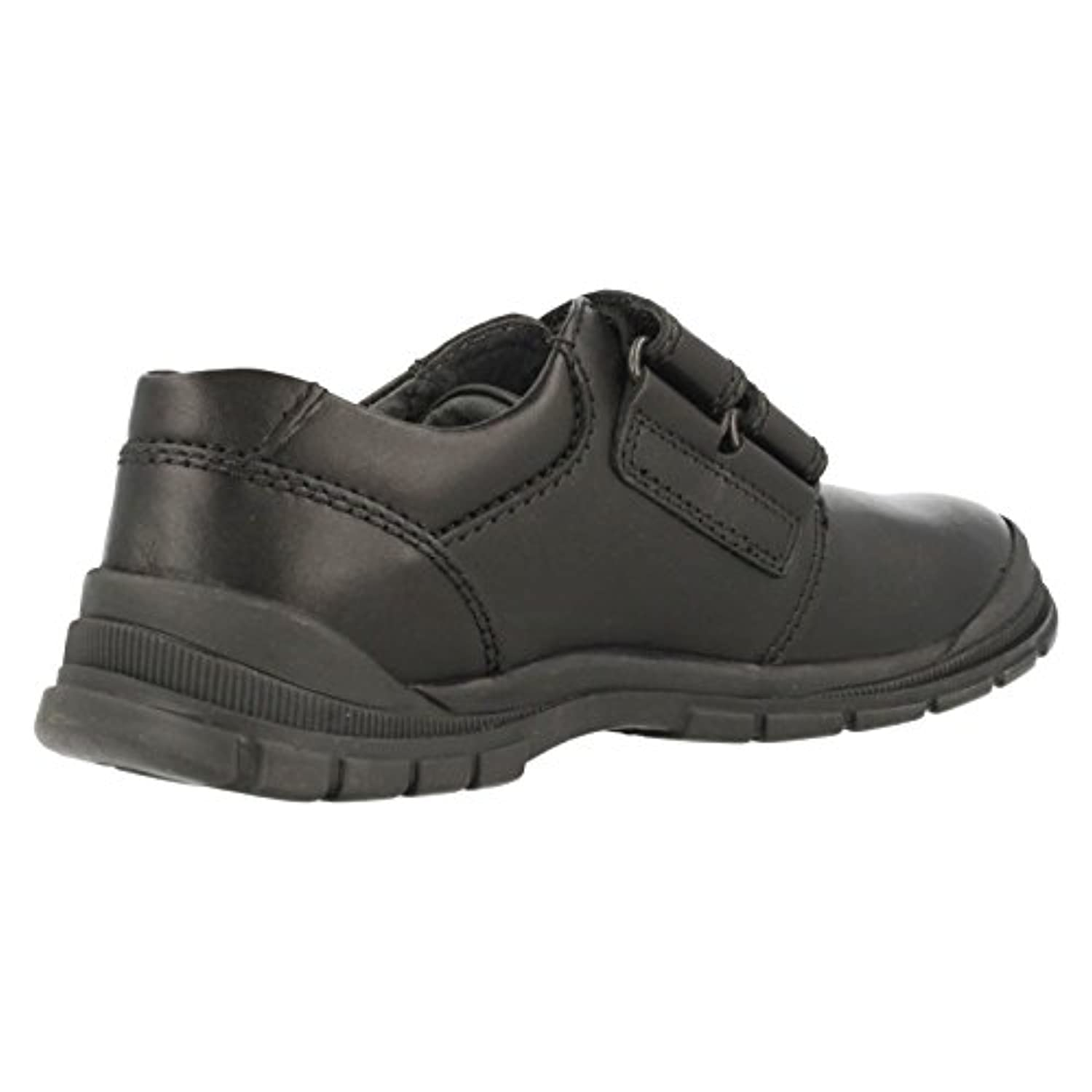 Boys Startrite Scuff Resistant School Shoes Engineer Black Leather Size 1H