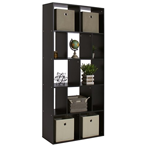 best choice products home furniture 12-shelf bookcase- black