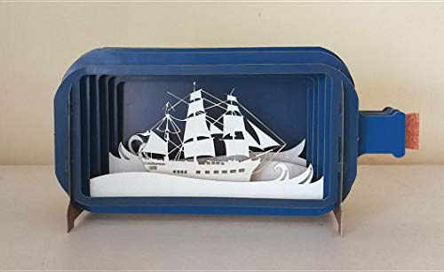 - Message in a Bottle Sailing Pop-Up Card (MIB008)