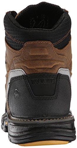 Wolverine Mens Overman Nano Toe 6 Inch WPF Contour Welt Work Boot Wheat/Tan 10317s
