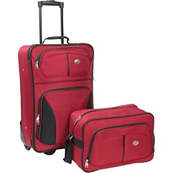 American Tourister Luggage Fieldbrook Two Piece Set Bag, Red, 2 Piece Nested Set