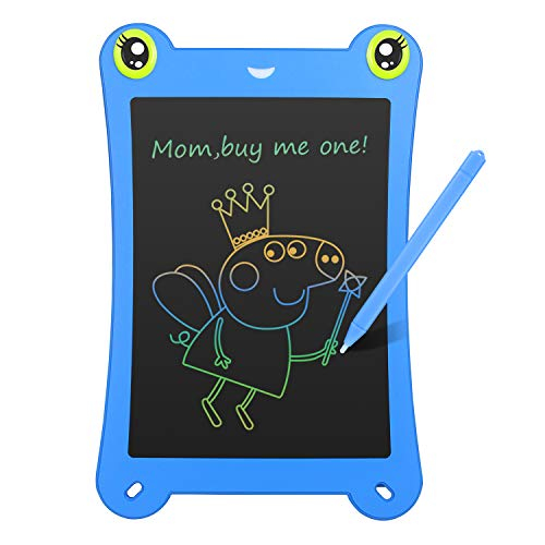 NEWYES 8.5 Inch Colorful Frog-pad Doodle Pad Drawing Board LCD Writing Tablet Toys for Kids Blue