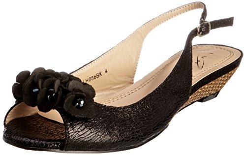 vestir Zapatos para Unbekannt mujer Flh086 de Negro taqWwS7O