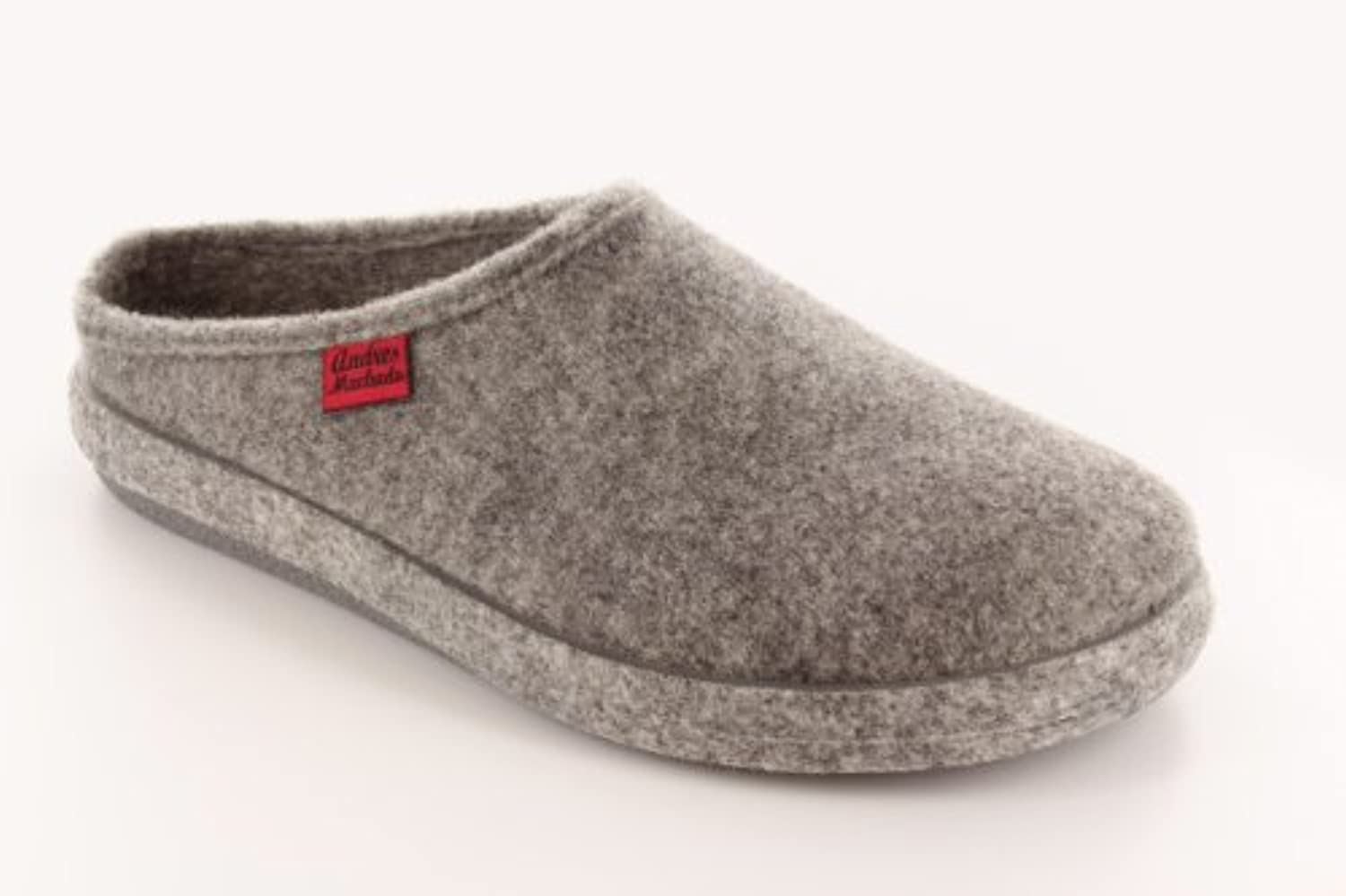 Very comfortable Felt Slippers in colour Anthracite with footbed, 0.5 UK/32 EU Youth