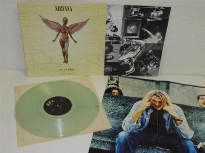 NIRVANA In Utero LP Geffen DGC 24607 LIMITED CLEAR COLORED VINYL NM Orig POSTER