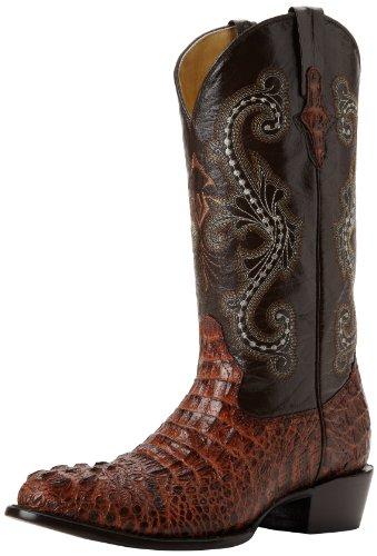 Ferrini Mens Print Krokodil R-toe Western Boot Sport Rost