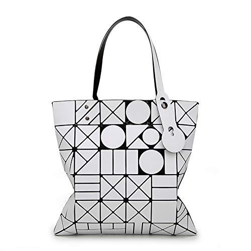 6 Femminile geometrica femminile Borsa Geometric a tracolla a GSYDXKB Opaco Bag Pieghevole 6 varietà bianco Borsa Nuova tracolla HHZOFp
