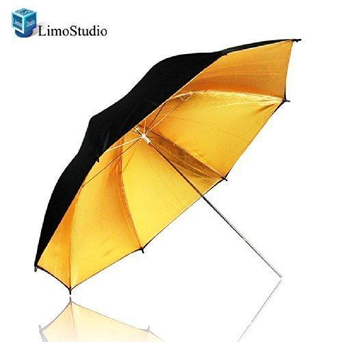 LimoStudio 33 Black & Gold Black/Gold Photo Studio Umbrella Photo Video Umbrella Reflector, AGG129-A
