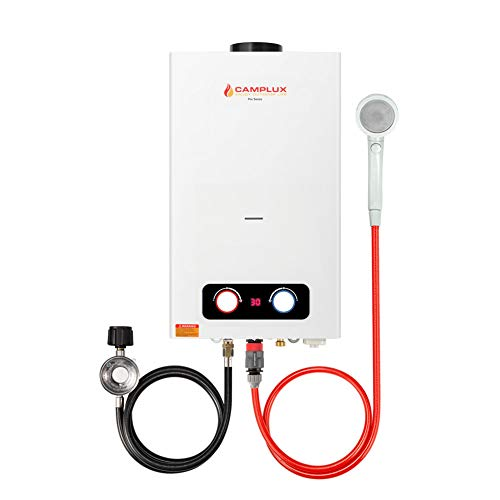 CAMPLUX ENJOY OUTDOOR LIFE BD264 2.64GPM Outdoor Propane Tankless Gas Water Heater, White
