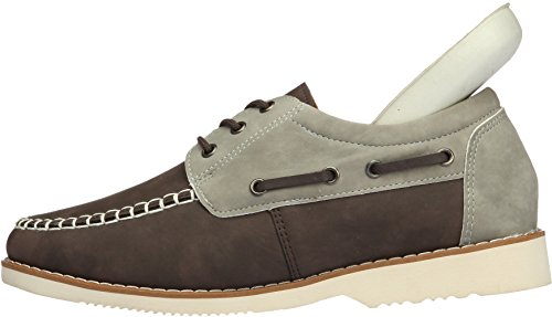 031 Gadea Tall 5 Loafers Holes brown 035 3 Leather Shoes Up Casual Mens dqr0Haq