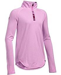 Under Armour UA Tech 1/4 Zip Girls' Long Sleeve Shirt Size M (10-12) YMD
