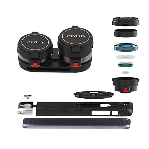 Ztylus Z-PRIME Lens Kit for iPhone 6s Plus / 6 Plus: Super Wide Angle Lens, 2X Telephoto Lens and Ztylus Metal Series Case by Ztylus