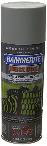 Hammerite Rust Cap Smooth Enamel Finish, 12 oz Aerosol Can, 18 sq-ft/gal, Gray ()