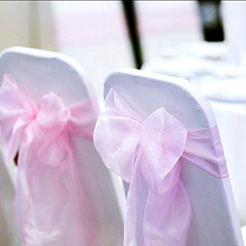 Used, BIT.FLY 100 Pcs Organza Chair Sashes for Wedding Banquet for sale  Delivered anywhere in USA