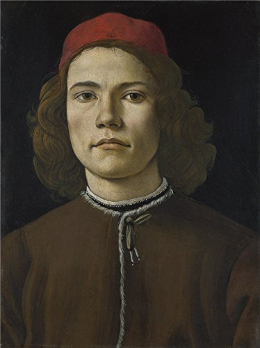 Oil Painting 'Sandro Botticelli Portrait Of A Young Man ' Printing On Perfect Effect Canvas , 20 X 27 Inch / 51 X 68 Cm ,the Best Home Theater Gallery Art And Home Decoration And Gifts Is This High Definition Art Decorative Prints On Canvas