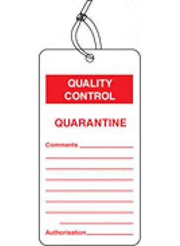 Caledonia Signs 59785 Quarantine QC Tag (Pack of 10) Caledonia Signs Ltd