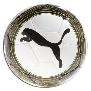 PUMA Cellerator Club Soccer Ball (White Black Yellow, 5)