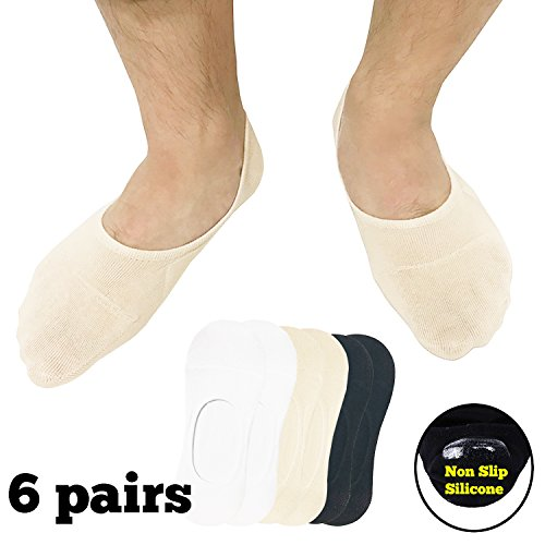 CoreChord Mens Ankle Athletic Socks White Beige Black,Shoe s