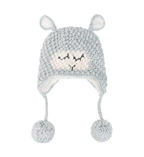 Sumolux Womens Warm Earflap Beanie Hat Sheep Knitted Pom Pom Winter Crochet Cap Hats