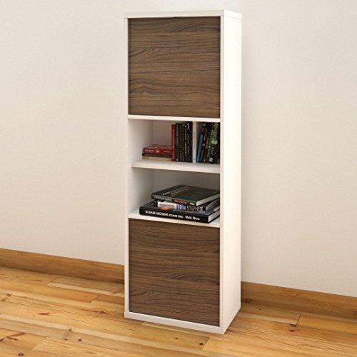 Liber-T 6 Shelf 2 Door Bookcase