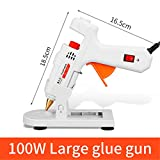30W/40W/80W/100W Professional High Temp Hot Melt Glue Gun Graft Repair Heat Gun Pneumatic DIY Tools Hot Glue Gun (100W Large Glue gun)