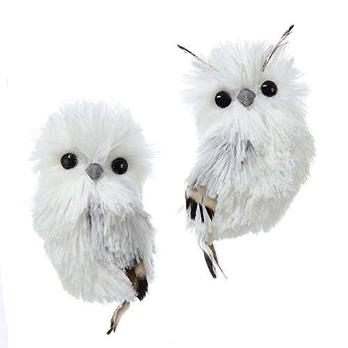 White Fluffy Own Christms Tree Decorations