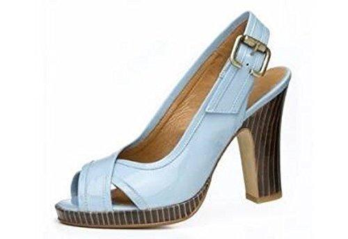 Sandalette von I`m walking Lack in hellblau Hellblau