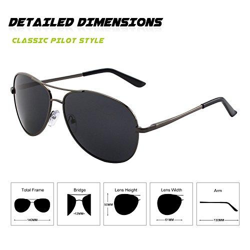 GQUEEN MOS1 Al Gris Spring Premium 1 de lunettes soleil Hinges Mg polarisées Gris Pilote rqwrOFvR