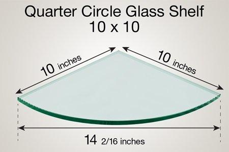 TroySys - Quarter Circle Floating Glass Shelf (10