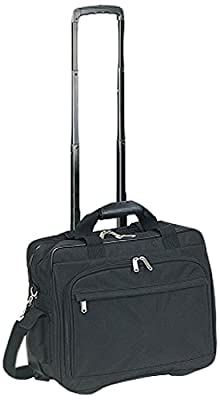 Preferred Nation 4515 Rolling Compact Laptop Catalog Case, Black