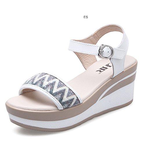Coreana Sandalias Mujer Plataforma Plano Palabra Cuña zapatos En El Casuales Verano Zapatos La De B alta Para tP5wqxzq4g