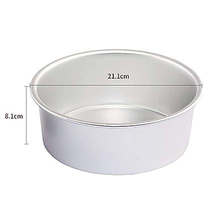 Redonda Mini Moldee, Aleación de Aluminio Torta chifón Latas Sartenes Bricolaje No se pegue Herramientas