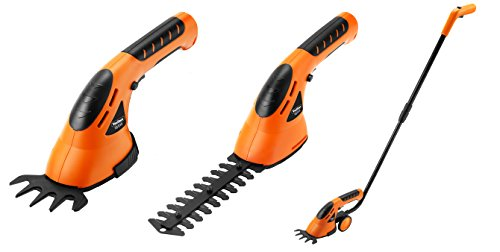 VonHaus 3-in-1 Cordless Grass Shears / Hedge Trimmer - Handheld & Wheeled (Hand Grass)