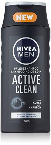 Nivea Men Pflegeshampoo Active Clean, Doppelpack, 1er Pack (2 x 250 ml)