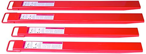 Wesco Industrial Products 272558 Heavy Duty Steel Fork Extension, 6-3/4'' Width x 2-3/8'' Height x 63-3/8'' Depth by Wesco